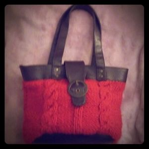 Ulta Red Cable Knit Tote